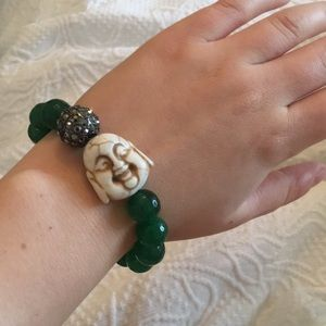 Jewelry - Buddha Stretch Bracelet with Natural Stone Beads
